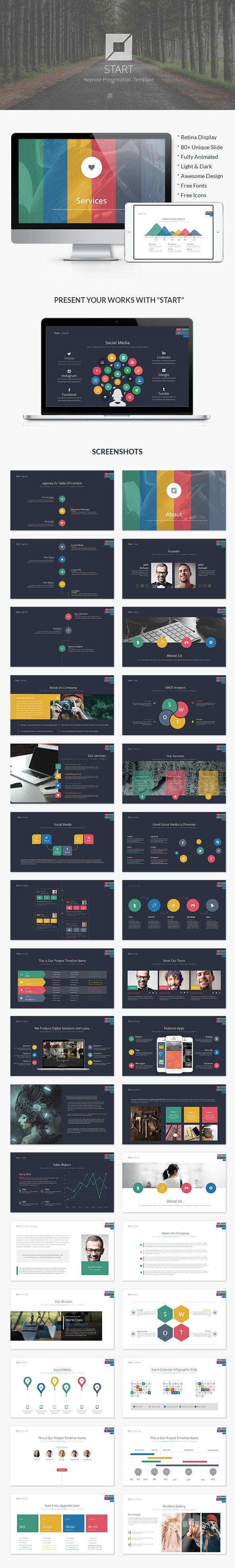 Start   Business Keynote Template - Business Keynote Templates