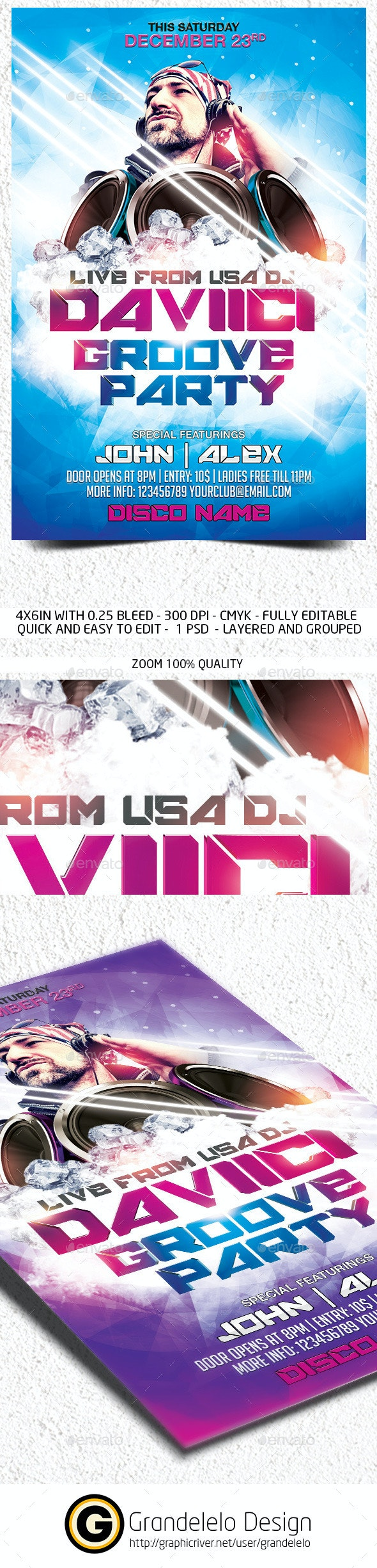 DJ Fest Flyer Template - Clubs & Parties Events