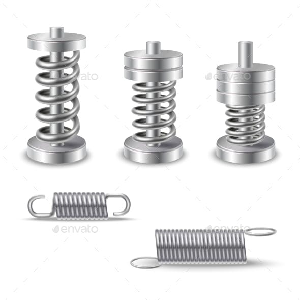 Realistic Metal Springs Devices