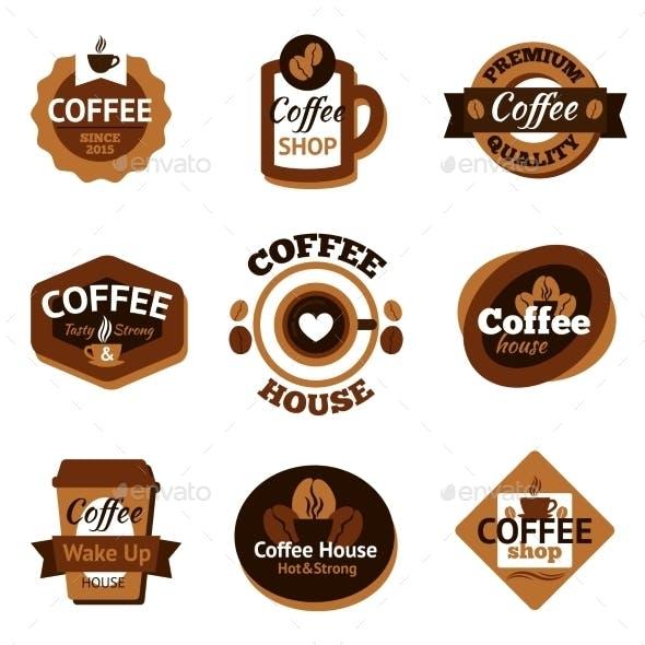 Coffee Labels Set