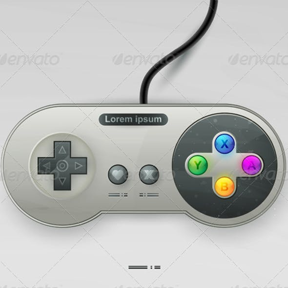 Icon vector joystick with buttons. EPS10
