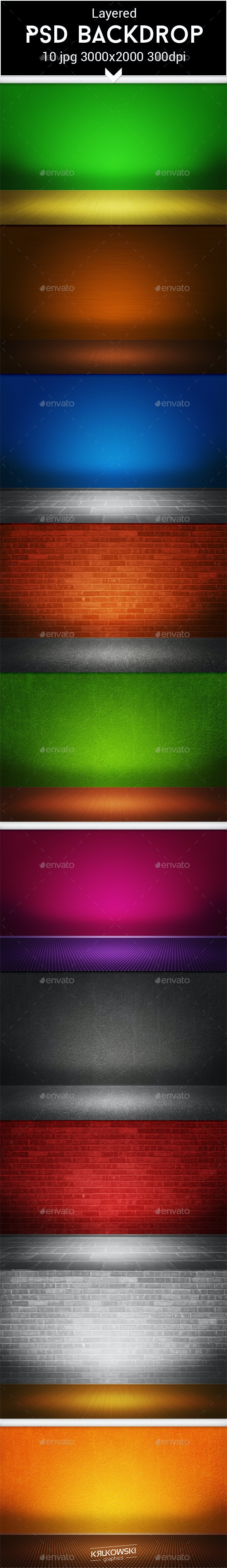 Room PSD Backdrop - 3D Backgrounds