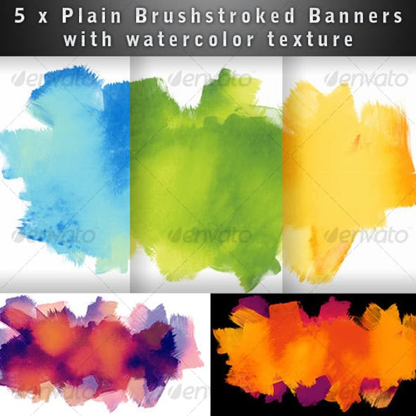 Brushed Watercolor Textured Banner