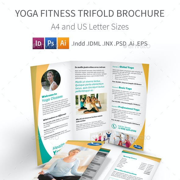 Yoga Fitness Trifold Brochure