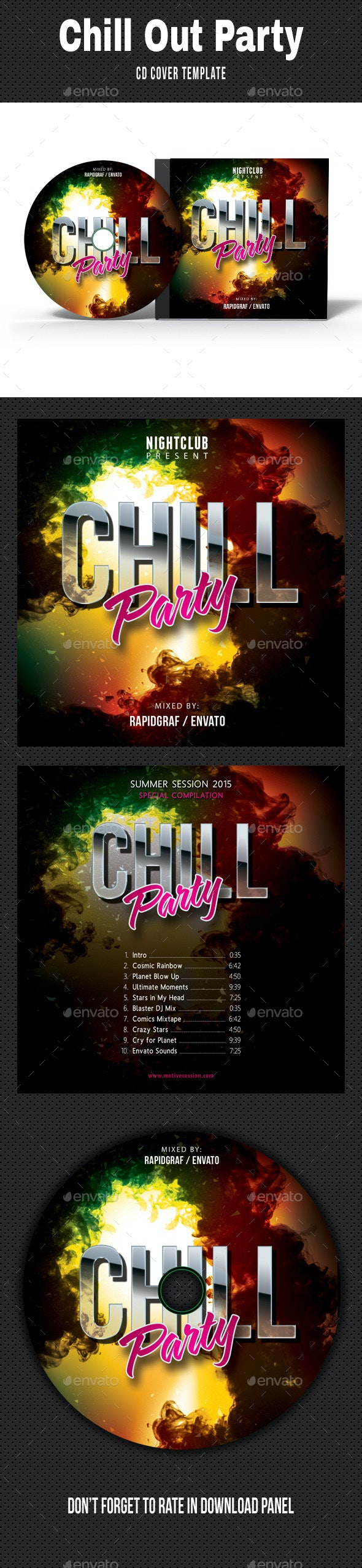 Music Night Party CD Cover 19 - CD & DVD Artwork Print Templates