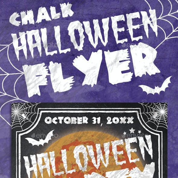 Chalk Halloween Flyer