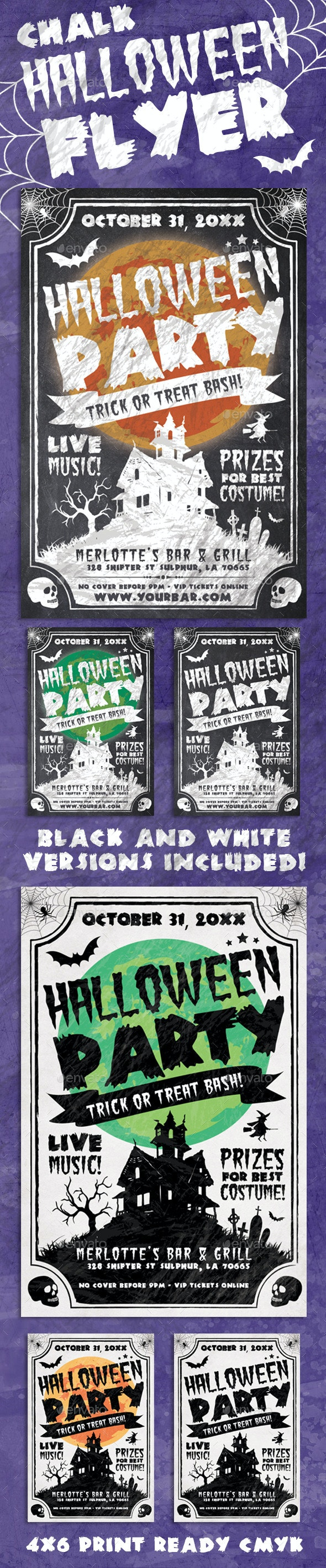 Chalk Halloween Flyer - Events Flyers