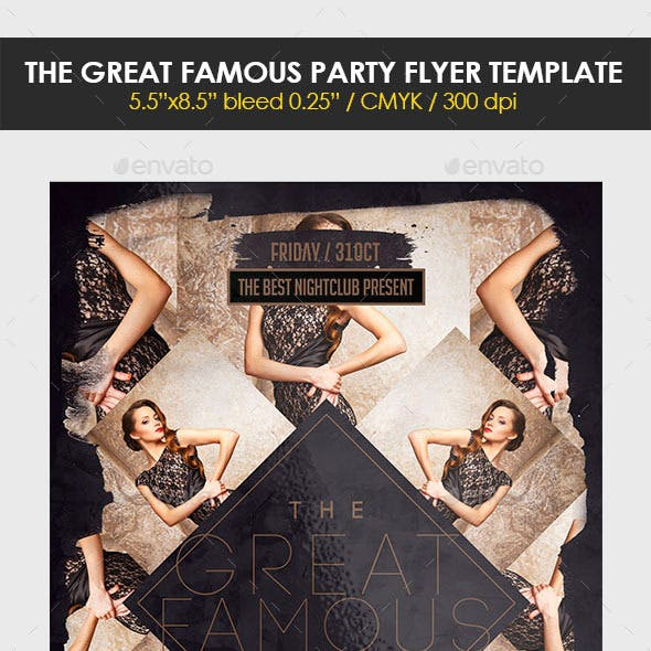 The Great Famous Flyer Template
