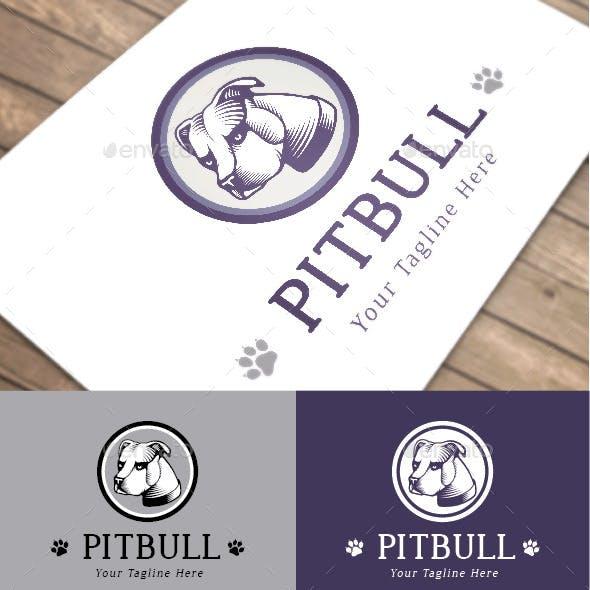 Pitbull Dog Purple Logo