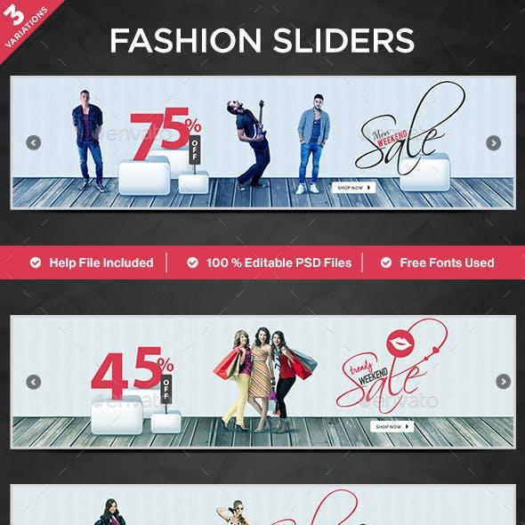 Fashion Sliders - 3 Designs