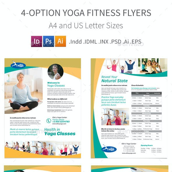Yoga Fitness Flyers – 4 Options