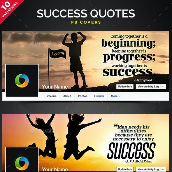 Success Quotes Facebook Covers - 10 Designs