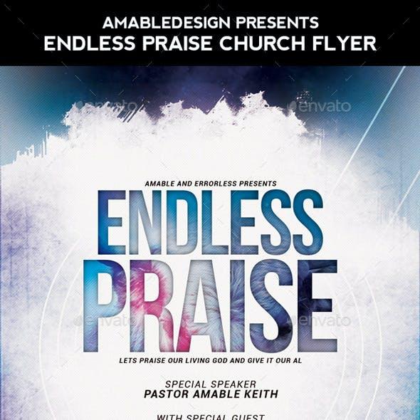 Endless Praise Church Flyer