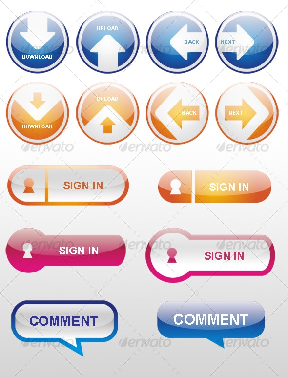 WEB BUTTON ON OVAL BASE     - Buttons Web Elements