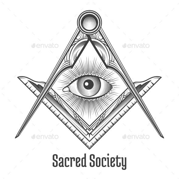Masonic Square And Compass Symbol