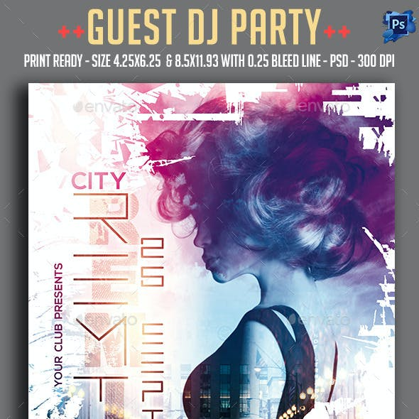 Guest Dj Party Flyer