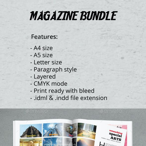 A4 A5 Letter Magazine Bundle Vol.2