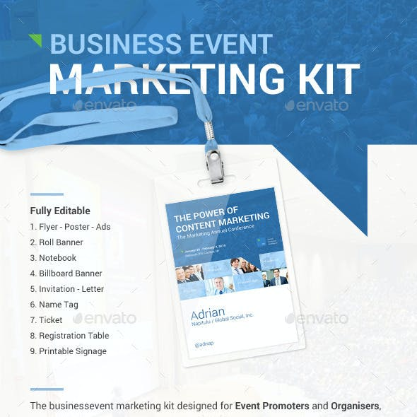 Clean Business Event Marketing Kit