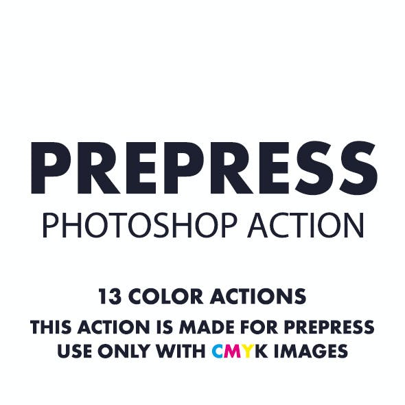 Prepress Photoshop Action