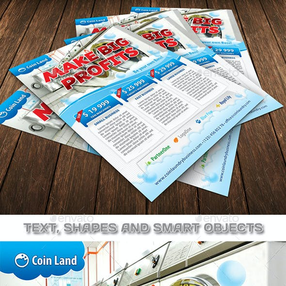 Coin Laundry Business Flyer Template 114