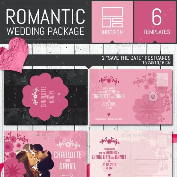 Romantic Wedding Invitation Pack Template