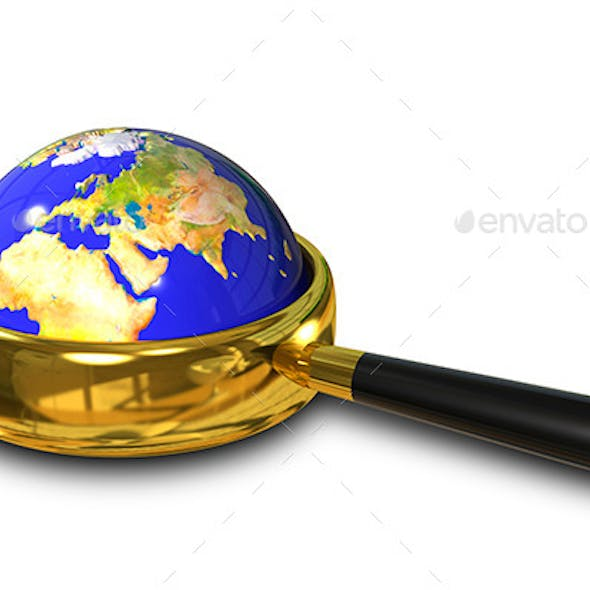 Globe in the Magnifying Glass
