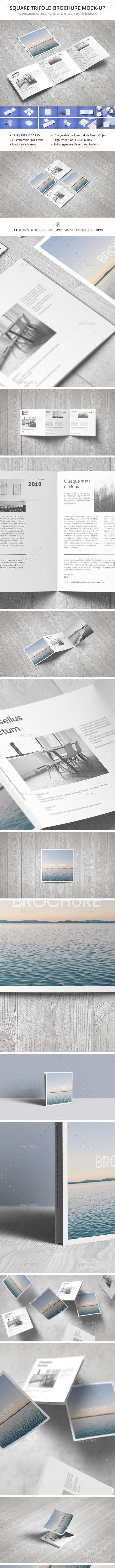 Square Trifold Brochure Mock-up - Brochures Print
