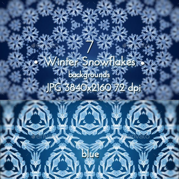 Winter Snowflakes Pattern Background