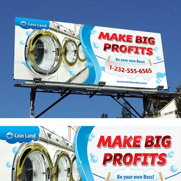 Coin Laundry Service Outdoor Banner 60