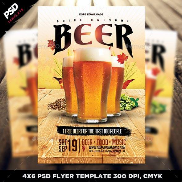 Drink Beer Flyer Template