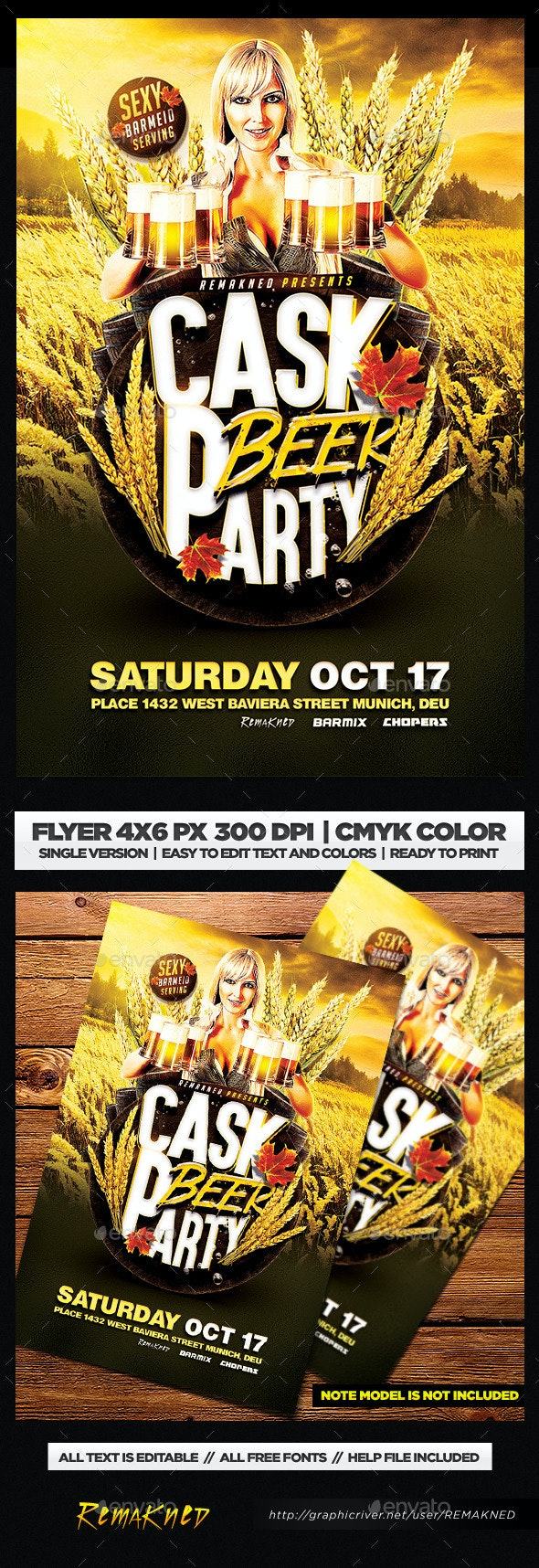 Cask Beer Party | Flyer Template PSD - Clubs & Parties Events