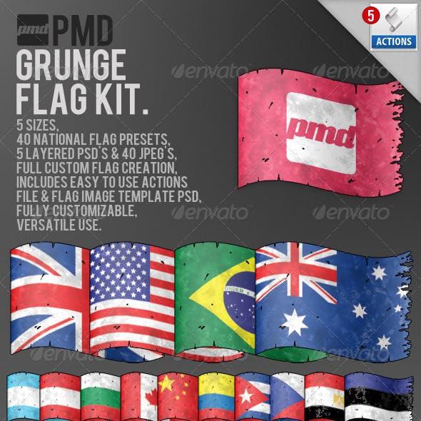 Grunge Flag Kit