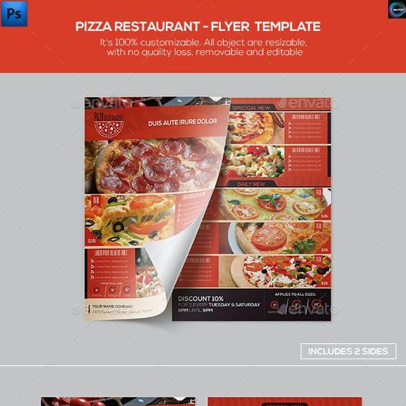 Pizza Restaurant - Flyer Template