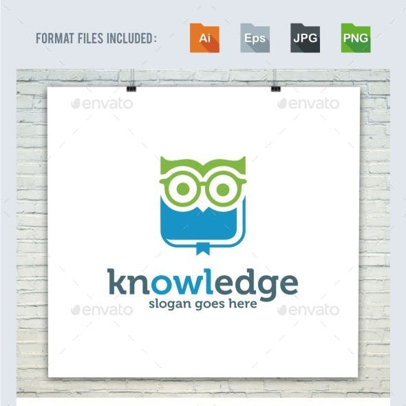 Knowledge - Owl Logo Template