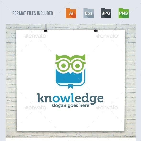 Knowledge - Owl Logo Template