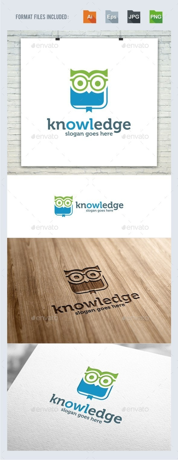 Knowledge - Owl Logo Template - College Logo Templates