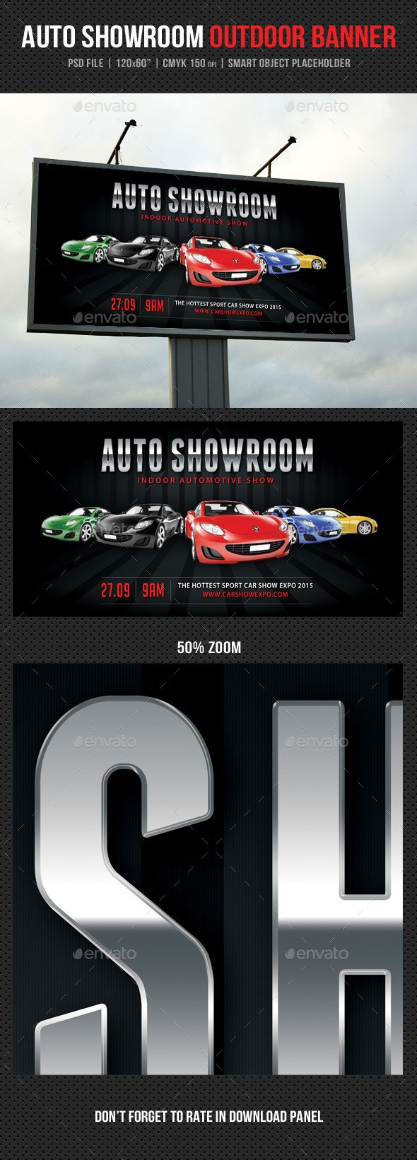 Auto Showroom Outdoor Banner 04 - Signage Print Templates