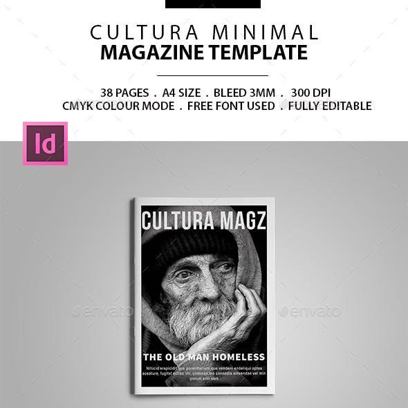 Cultura Minimal Magazine Template