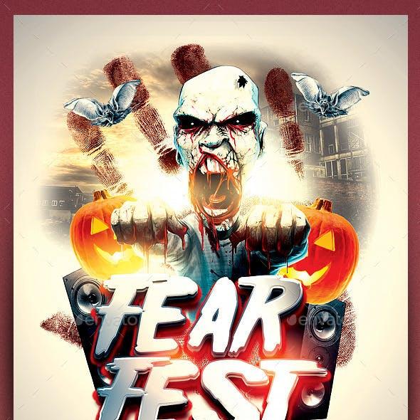 FearFest Halloween Template PSD