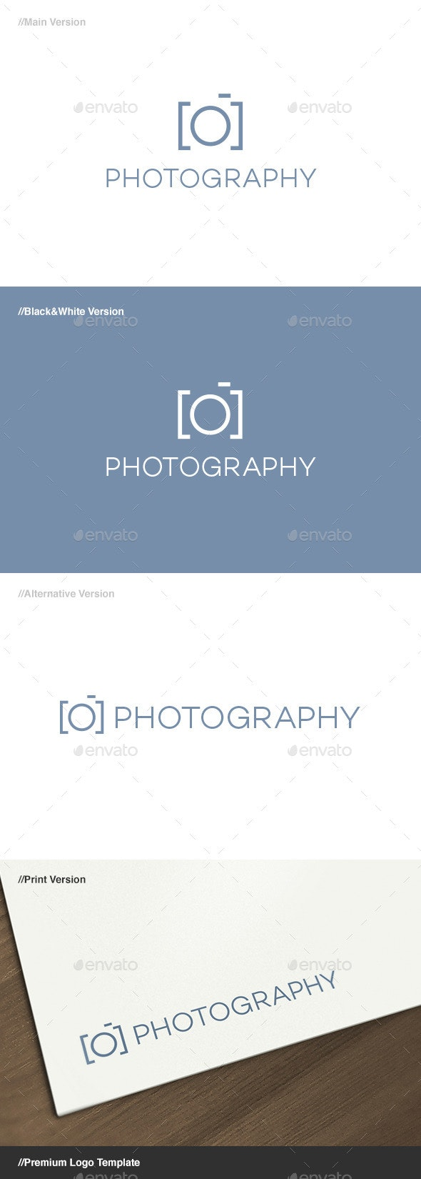 Photography Logo - Letters Logo Templates