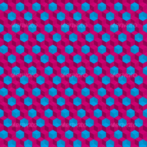 binocle trippy cubes seamless pattern - Patterns Decorative