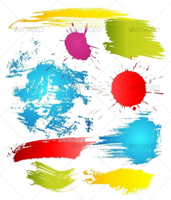 Grungy design elements - Backgrounds Decorative