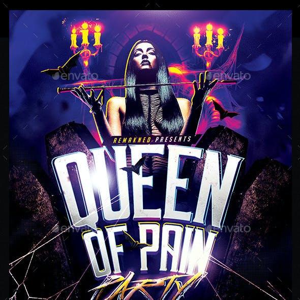 Queen Of Pain Party | Halloween Flyer Template PSD