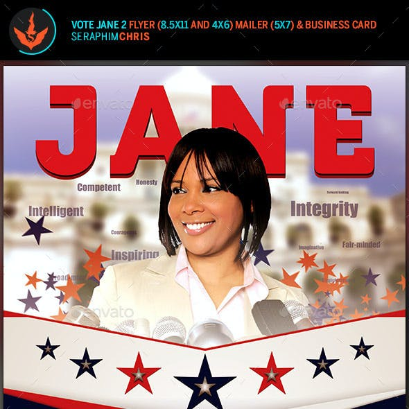 Vote Jane 2 - Political Flyer Template Kit