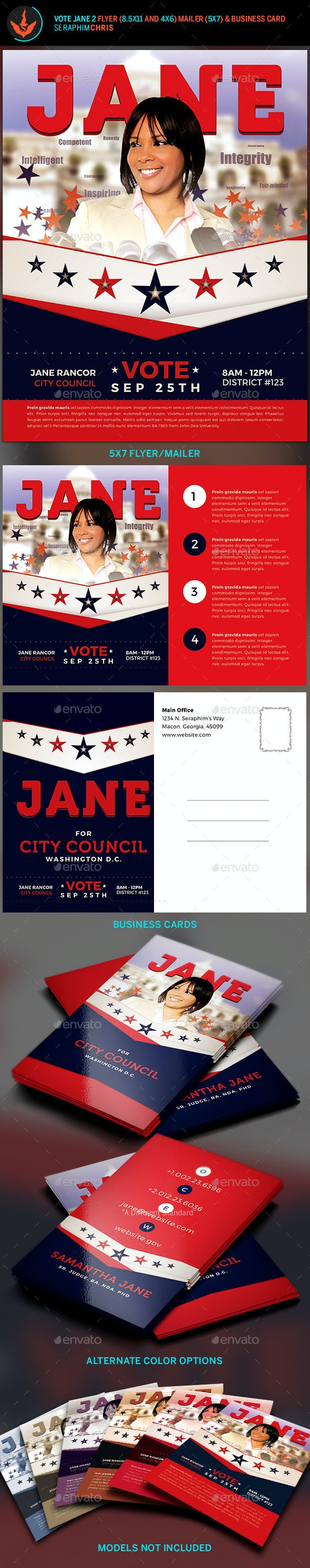Vote Jane 2 - Political Flyer Template Kit - Corporate Flyers