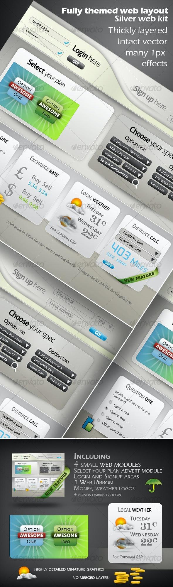 Silver Web Kit - Web Elements