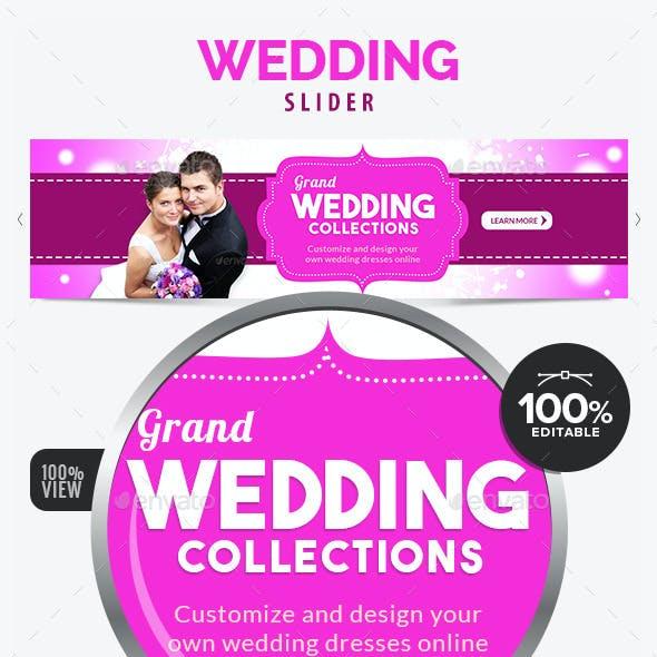 Wedding Collection Slider