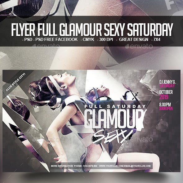 Flyer Full Glamour Sexy Saturday