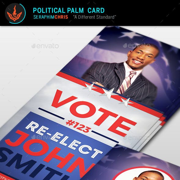Re-Election Palm Card Template