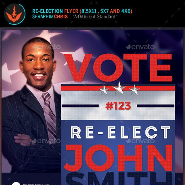Vote: Re-Election Flyer Templates